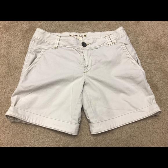 Anthropologie Pants - Anthropologie Hei Hei White Cotton Short 0